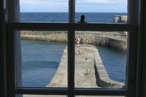 Portsoy Harbour from  Creel Cottage.